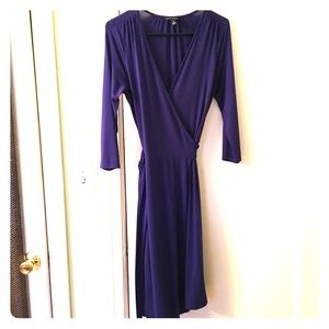 Banana Republic Purple Wrap Dress Small Tall